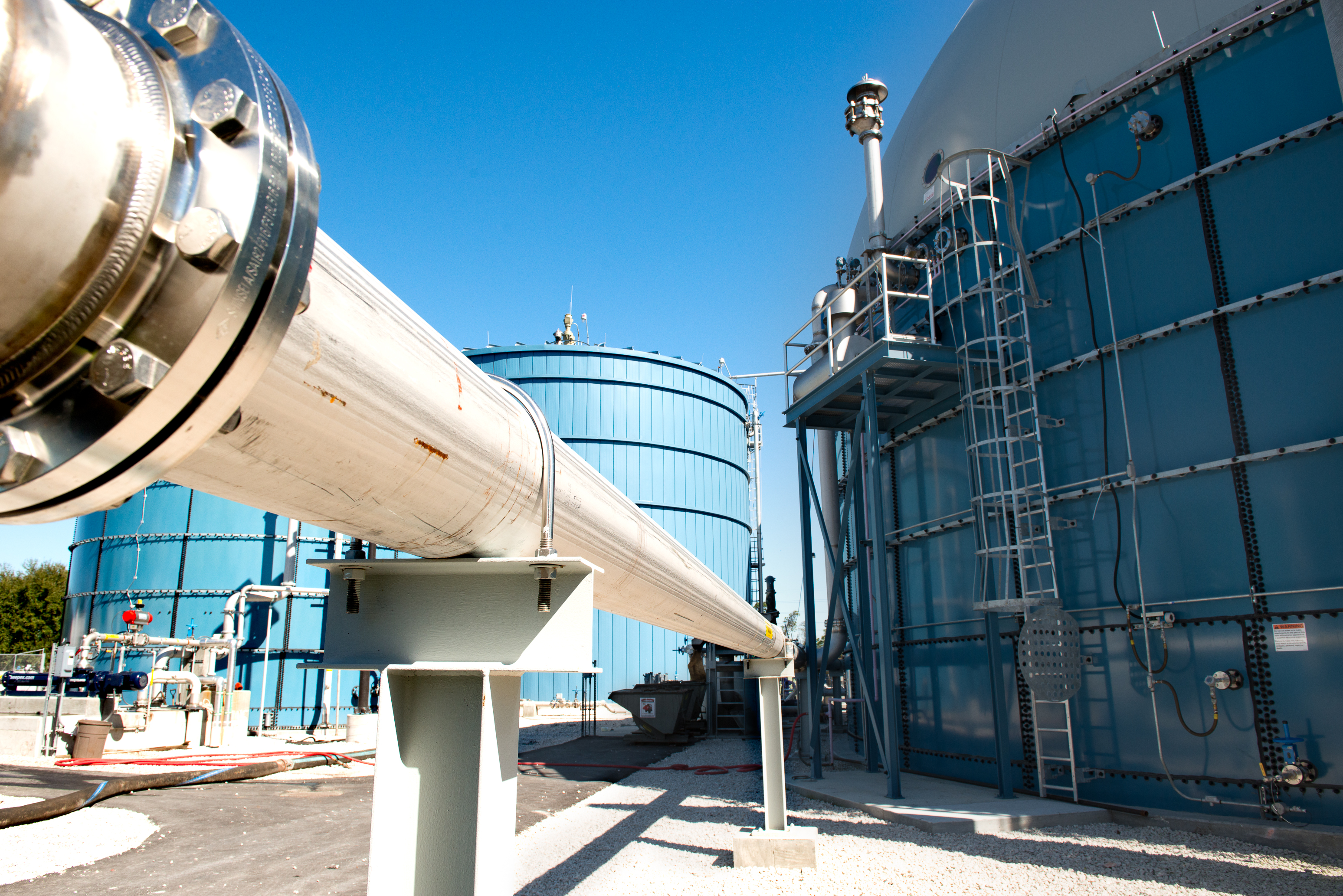 Photo courtesy of Harvest Power- Orlando FL Anaerobic Digesters and Biogas Storage